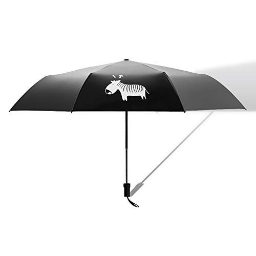Regenschirm Regenschirm Sonnenschirm Sonnenschirm Sonnenschutz UV-Sonnenschirme 30 Prozent Regenschirm Regenschirm Kleiner Zebra-Regenschirm