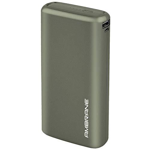 Ambrane 20000mAh Li-Polymer Powerbank with Fast Charging & Compact Size (Neos, Midnight Green)