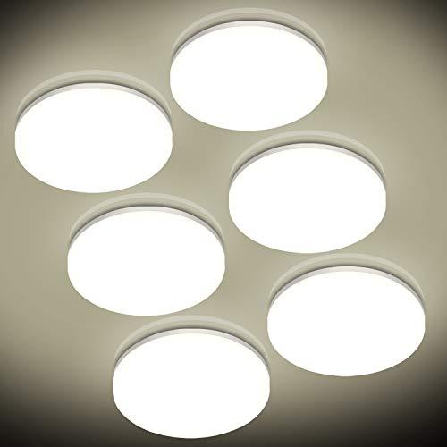 6er LED Deckenleuchte Rund 24W, Oraymin 2400LM IP54 Wasserfest Badlampe, 4000K Neutralweisse LED Deckenlampe für Balkon,Wohnzimmer,Schlafzimmer,Flur, Küche,160 ° Abstrahlwinkel,ø27.8CM