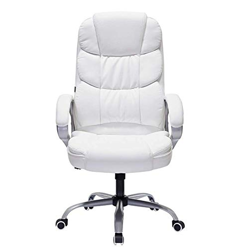 Video Game Chair,Rotating Ergonomic Swivel Office Chair Thicken Padded Swivel Executive Office Chair For Office Home White Reclining Office Chair Computer Desk Chair Computer Office Chair (Colo
