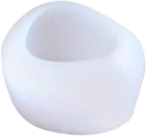 2 Pc de silicona del molde del molde de la torta 3d conejo molde de silicona hecha a mano de la pasta de azúcar de la hornada Moldes de la magdalena (Color : White, Size : 7.5 * 5.5 * 4.5cm)