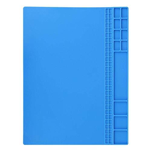 fasient Weiche Silikon-Isoliermatte, Korrosionsbeständigkeit Hitzebeständige Hochtemperaturbeständigkeit mit Wartungsplattform-Wartungsplattform-Pad für die Reparatur von(Navy Blue)