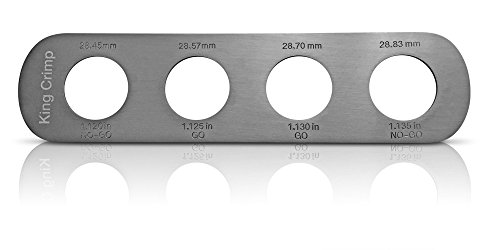 Crown Gauge for 26 mm Beer Bottles - a Go/No-Go Gauge for Testing Crowns and Crimpers. Breweries, Brewmasters and Home Brewers can Increase Quality Control for Beer, Wine or Kombucha Bottling.