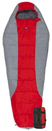 TETON Sports Tracker 5 Lightweight Mummy Sleeping Bag Leichter Rucksack-Schlafsack für Wandern und Camping, Scout Rot, 75