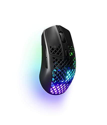 SteelSeries Aerox 3 Wireless - Super Light Gaming Mouse - 18,000 CPI TrueMove Air Optical Sensor - Ultra-lightweight Water Resistant Design - 200 Hour Battery Life
