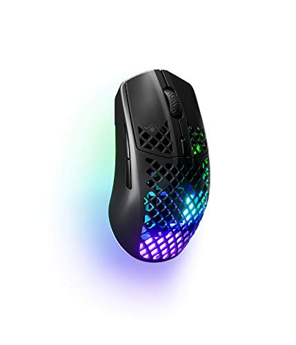 SteelSeries Aerox 3 Wireless - Super Light Gaming Mouse - 18,000 CPI TrueMove Air Optical Sensor - Ultra-lightweight Water Resistant Design - 200 Hour Battery Life