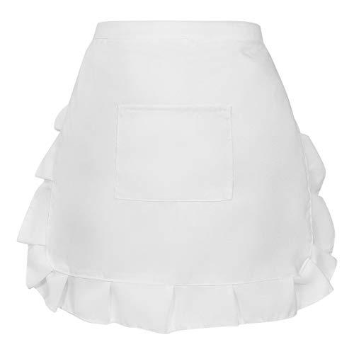 Hemoton Taille Schort Kort Schort Kookschort Keukenschort Meid Kostuum Voor Coffeeshop Bakkerij Restaurant 52X42cm