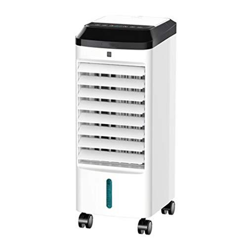Raffrescatore Evaporativo Portatile Domestico Ventola di Raffreddamento 4L su E Giù Doppio Serbatoio dell'Acqua Telecomando Intelligente 12H Temporizzazione E 3 velocità Ventola di Raffreddamento per