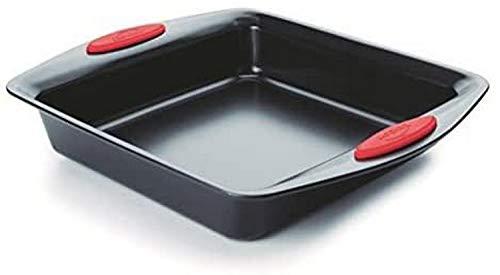 LACOR carré Moule, Acier, Noir, 31 x 26 x 5 cm
