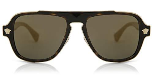 Versace 0VE2199 Gafas de sol, Dark Havana, 55 para Hombre