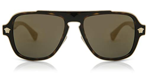 Versace Mens Sunglasses Tortoise/Gold Metal - Non-Polarized - 56mm