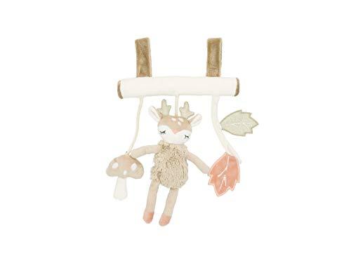 Bieco Kinderwagen Kette Design REH   ca. 30x21 cm   Als Maxi Cosi Spielzeug, Mobile Babybett oder für Baby Laufgitter   Spielbogen Anhänger   Activity Spiel   Mobile Baby Spielzeug   Greifringe Baby