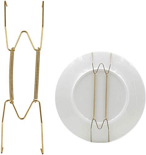Perchas EEEKit para placa de exhibición de platos, paquete de 10 placas Soporte de gancho de resorte Cable colgante para la decoración del hogar de la pared