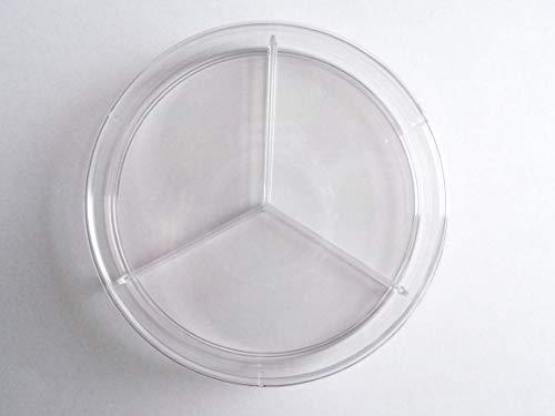 Boîte de Pétri Ronde 90mmx15mm 3 Compartiments - Plastique - Petri Dish 3 Compartment - SEM13