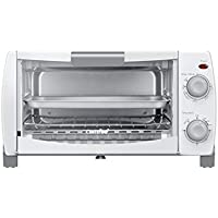 Comfee' 1000W 4-Slice Countertop, Compact Size, Easy to Control Toaster Oven with Timer-Bake-Broil-Toast Setting(CFO-BB102)