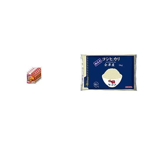 味の素 CookDo きょうの大皿 肉みそ大根用 90g×5個 +  【精米】[Amazon限定ブランド] 580.com 会津産 無洗米 コシヒカリ 5kg 令和元年産