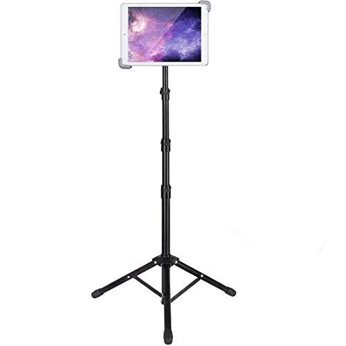 Ipad Tripod Stand, Xingnuo Height Adjustable 20 to 60 Inch Bluetooth Control Tablet Tripod iPad Floor Mount for Ipad Pro 12.9'/11', Ipad Air 10.5', Ipad 9.7'' and All 9.5-14.5 Inch Tablets