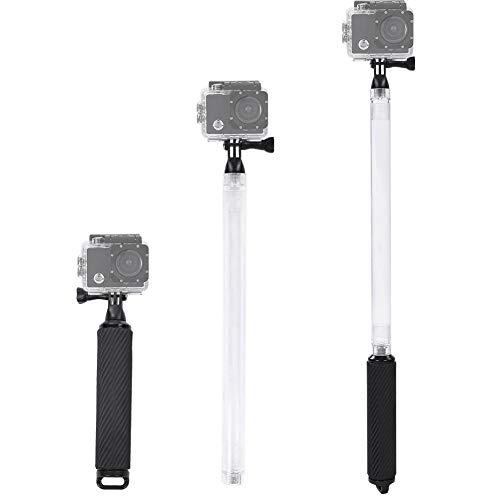 Topiky Palo Selfie de Buceo, 17'de Mano 40m Impermeable Flotador Selfie Stick Monopie Polo con Mango de flotabilidad para GoPro Hero 7 6 5 y Otras cámaras de acción(Negro)