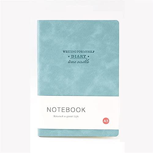 WANGYIYI 2pcs Cuaderno de Tapa Blanda de PU Espesar la página Interior Cuadernos Forrados Protección Ocular Diarios de Estudiantes para la Oficina, el hogar, la Escuela, los Negocios