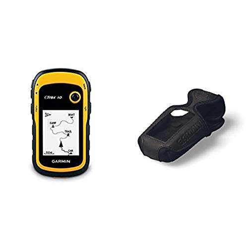 Garmin eTrex 10 Outdoor Handheld GPS Unit, Black/Yellow & - Case for Etrex Series GPS - Black