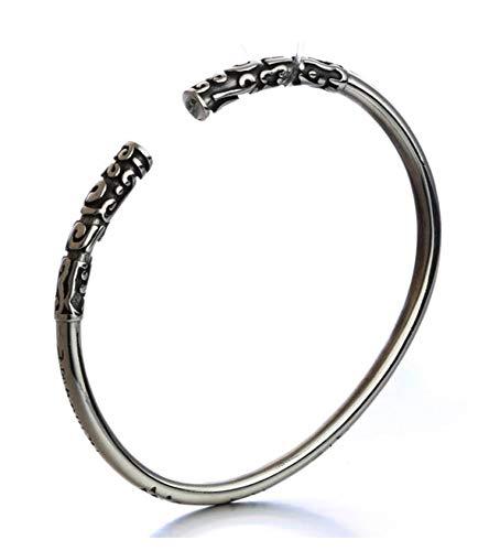 Epinki Damen Armband Titanstahl Goldene Reifen Form Handgelenk Link Damenarmband Silber