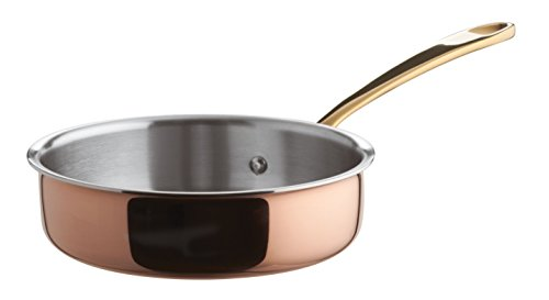 Paderno World Cuisine Mini Tri-Ply Copper, Low, 4in Saute Pan
