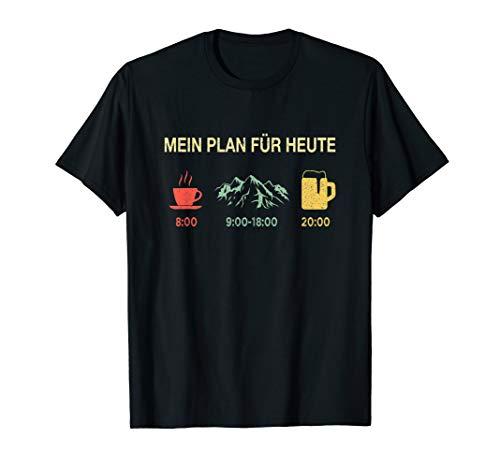 MEIN PLAN FÜR HEUTE Kaffee Berge Bier Retro Vintage Geschenk T-Shirt