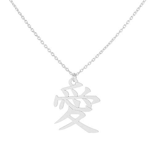 Sterling Silber Halskette Anhänger Liebessymbol ARLIZI 1896