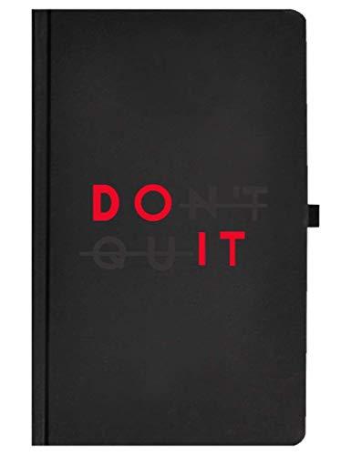 Libreta Headline DO IT  Cuaderno clásico pasta dura de cartón negro mate 120 hojas rayadas con micro perforación.