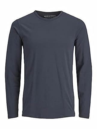 Jack & Jones Basic O-Neck tee L/S Noos Camiseta, Azul (Navy Blue), M para Hombre