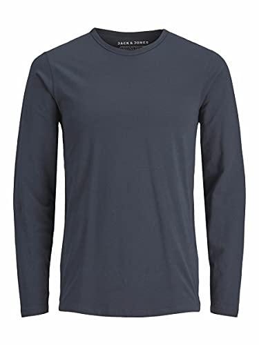 JACK & JONES Herren Longsleeve JJEBasic O-Neck Langarm-Shirt 12059220 Navy Blue L