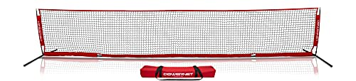 PowerNet Soccer Tennis Net | Portable | Indoor Outdoor | Quick Setup Easy Folding Storage | 2 Sizes (12 ft x 3 ft)