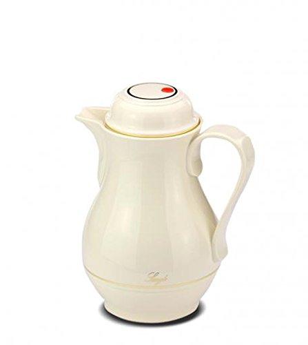 ROTPUNKT Isolierkanne 530 Christa 0,5 l | Zweifunktions-Drehverschluss | BPA-frei - gesundes Trinken | Made in Germany | Warm + Kalthaltung | Glaseinsatz (Ivory)