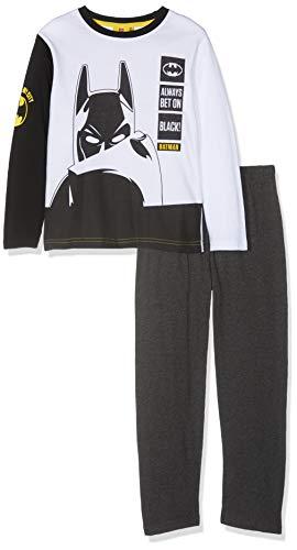 LEGO Batman Jungen 4743 Zweiteiliger Schlafanzug, Weiß, 128