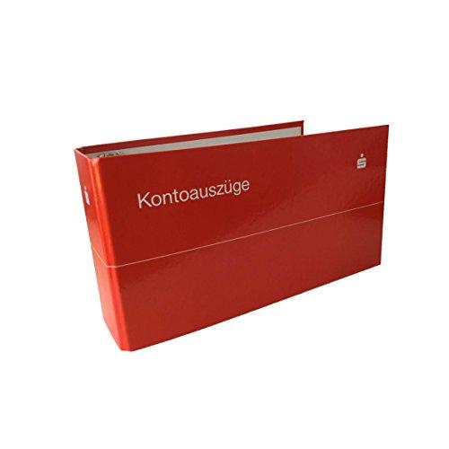 1 x Kontoauszugsordner, Bankordner, Ordner für Kontoauszüge rot mit Sparkassen Logo weiß
