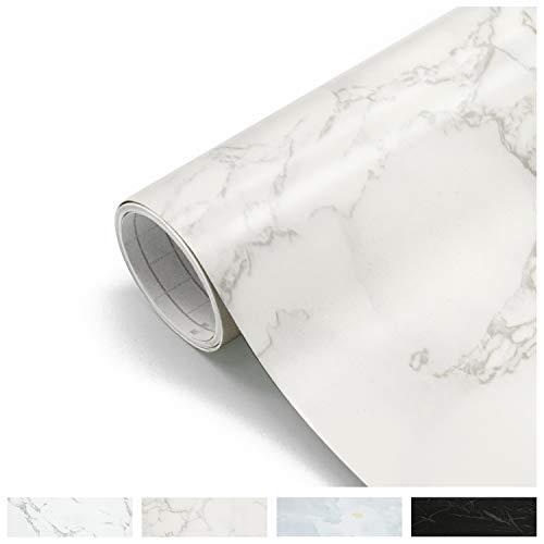 Losu Marmor Folie Möbel Klebefolie Vinyl Selbstklebend Dekorfolie Fensteraufkleber PVC Möbelfolie Tapete Selbstklebende Folie für Möbel Küche Küchenschrank 61x 500cm Type A