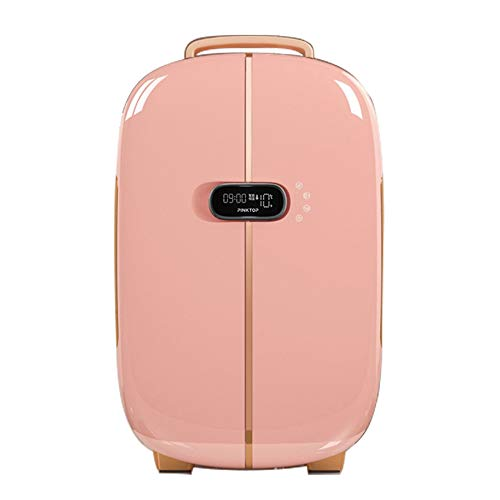 Flawless Beauty Mini Fridge/Portable Cosmetic Skincare Refrigerator,5 Storage Spaces,Used for Makeup And Skin Care, Can Also Be Used in Homes,13L Cooler Mini Fridge for Makeup Products,Pink