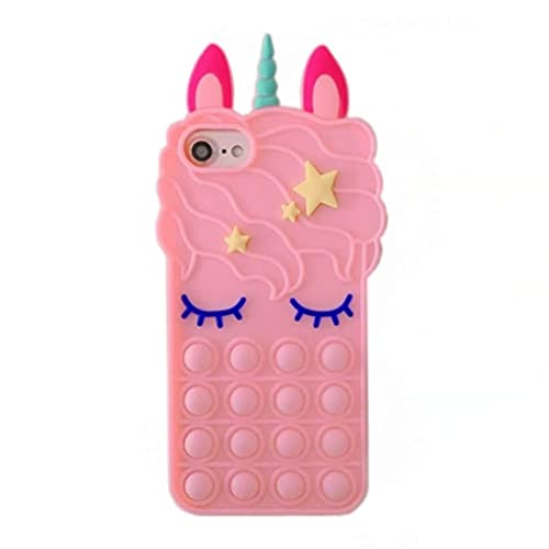 Sweet Meow Unicorn Case For Apple iPhone 12 (6.1'), Phone Cases Pink Silicone with Pattern Shockproof Soft Flexible Gel TPU Rubber Back Cover Bumper Skin for Apple iPhone 12 (6.1 inch) Smartphone