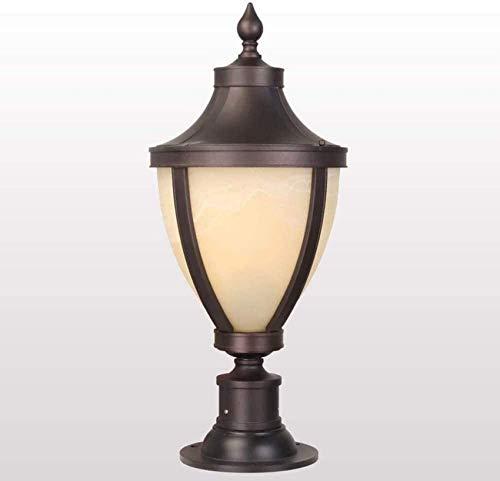 ACUIPP Pillar Light, europeo al aire libre impermeable Ip65 poste de jardín Lámpara de pilar Linterna de vidrio blanco Patio a prueba de lluvia Columna de paisaje Lámpara de mesa de entrada de