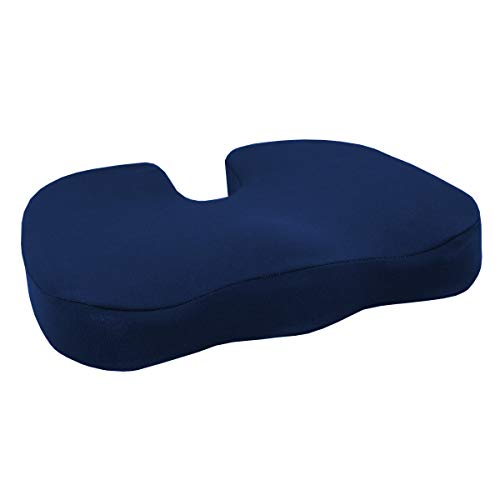 PrimoCare Orthopädisches Memory-Schaum Steißbeinkissen. Haltungskissen für Rücken, Becken und Beine, 44 x 37 x 7 cm