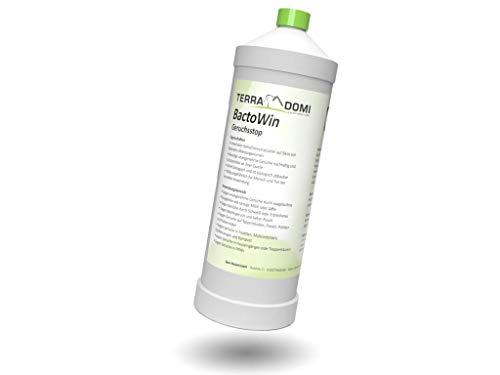 Terra Domi 1 Liter Bactowin, Geruchsneutralisierer & Fleckenentferner, wirkt garantiert biologisch und nachhaltig, Mikroorganismen gegen Schweiß, Tierurin, Nikotingeruch