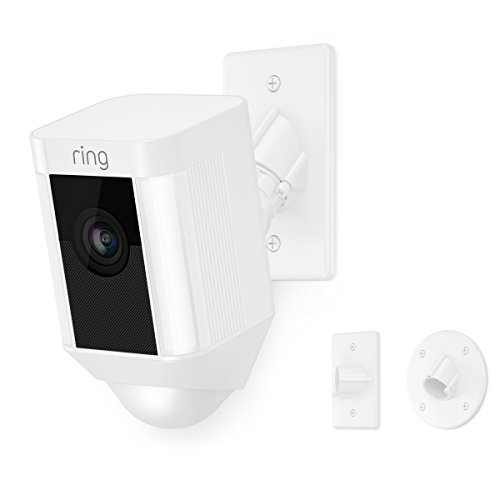 Ring Spotlight Cam Mount, Hardwired HD Security Camera, White