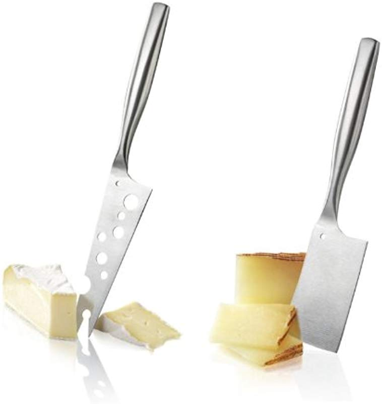 Boska Holland De Luxe Stainless Steel Cheesy Knife Hatchet 2pc Cheese Knife Set