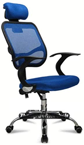 HZYDD Chair Mesh Staff Office Chair, Simple Household Ventilation Bow Lift Meeting Room Rotating Chair,Red,Red,Colour Name:Blue (Color : Blue)