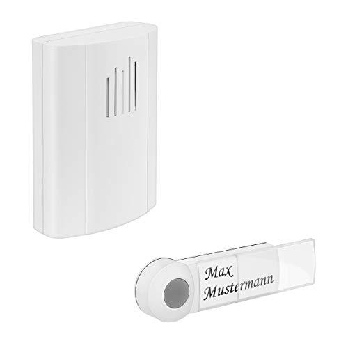 mumbi kabellose Funk Türklingel Haustürklingel Türgong mit Batterie Empfänger in weiß