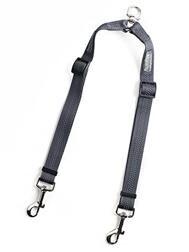 Mighty Paw Double Dog Leash, Two Dog Adjustable Length Dog Lead, Premium Quality No-Tangle Leash for 2 Dogs