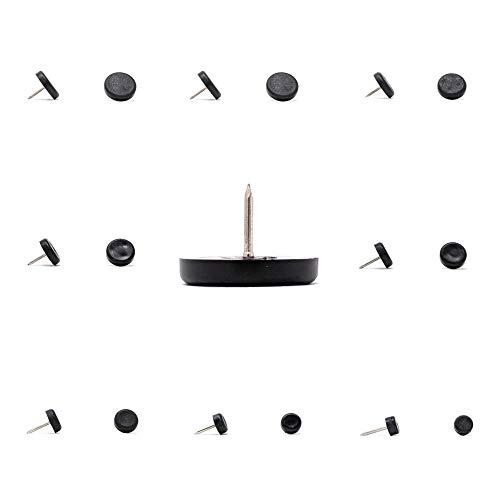 Piedini per mobili in plastica, per divano, gambe da tavolo, realizzati in Germania (nero, 10 mm, vedere seconda immagine prima di ordinare questa dimensione, confezione da 8, punta da 2 mm inclusa).