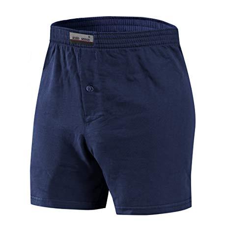 sesto senso Pantaloncini Pigiama Uomo Corti Shorts Cotone Quadri Semplice XXL Granat