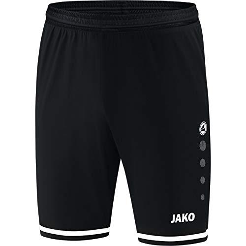 JAKO Kinder Fußballsporthosen Sporthose Striker 2.0, schwarz/weiß, 164, 4429