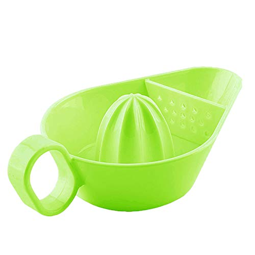 Manual Lemon Squeezer Lemon Orange Juicer Manual Hand Squeezer Extractor with Handle for Home Essential Fresh Juice Tools Green